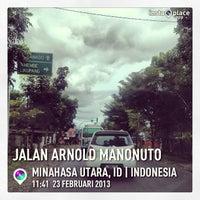 Photo taken at Jalan Raya Airmadidi - Manado by Marcel M. on 2/23/2013