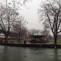 Photo taken at Canal du Thiou by Svetlana P. on 1/4/2014