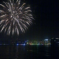 Photo taken at İzmir Körfezi by Omre U. on 12/31/2012