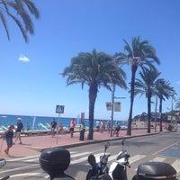 Photo taken at Platja de Lloret de Mar by Andrey K. on 8/8/2013