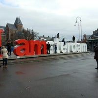 Photo taken at Museumplein by Yasmine on 2/9/2013