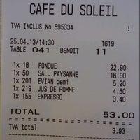 Photo prise au Café du Soleil par Siri C. le4/25/2013