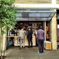 Photo taken at Blue Bottle Coffee by Justin S. on 1/22/2013