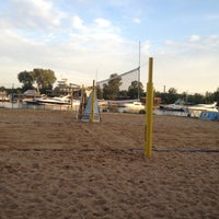 Photo taken at Elagin Volleyball Beach Resort by Maria L. on 7/1/2012
