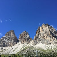 Photo taken at Rifugio Passo Sella by Lalessia on 8/13/2016