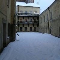 Photo taken at Vilniaus universiteto Filologijos fakultetas by Povilas D. on 12/13/2012