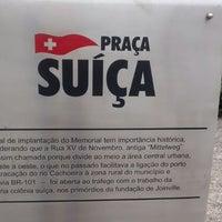 Photo taken at Praça dos Suíços by Jaqueline K. on 7/6/2014