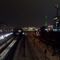 Photo taken at Kaiserdammbrücke by Sebastian S. on 1/23/2013