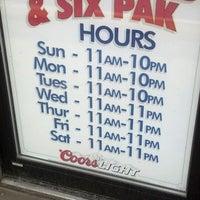 Photo taken at Super Sub & Six Pak by Ashley C. on 4/13/2013