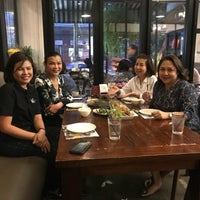 Photo taken at ร้านระเบียง (Rabiang Cafe and Restaurant) by Thanapa T. on 3/26/2018
