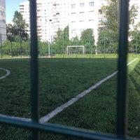 Photo taken at Футбольное поле by Nik on 6/4/2014