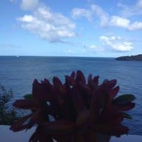 Photo taken at Grand View Beach Hotel by Leo M. on 3/11/2014