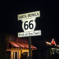 """Photo taken at Santa Monica Route 66 """"End of the Trail"""" by Asa M. on 2/16/2013"""