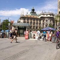 Photo taken at Karlsplatz (Stachus) by Petr P. on 7/18/2013