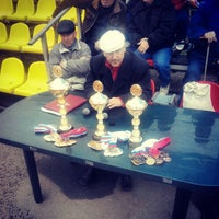 Photo taken at Стадион «Спартак» by Andrey A. on 10/12/2014