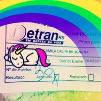 Photo taken at DETRAN/RS - Departamento Estadual de Trânsito by Camila D. on 2/6/2013