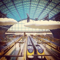 Photo taken at London St Pancras International Railway Station (STP) by Syed H. on 6/22/2013