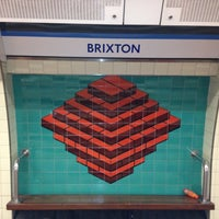 Photo taken at Brixton London Underground Station by Martyn H. on 3/11/2013