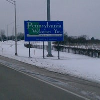 Photo taken at New York - Pennsylvania State Line by Antione L. on 1/3/2013