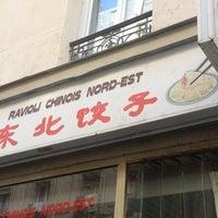 Photo taken at Raviolis du Nord-est de la Chine by Broca A. on 10/1/2012