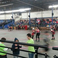 Photo taken at Roller Derby by Nicolas W. on 10/14/2012