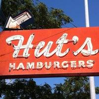 Photo taken at Hut's Hamburgers by Suzanne E. on 8/28/2013