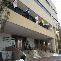 Photo taken at Red Deer City Hall by Jonathan W. on 12/31/2012