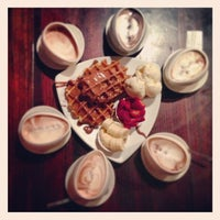 Photo taken at Max Brenner Chocolate Bar by Daniel J. on 9/6/2013