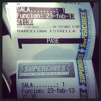 Photo taken at Super Cines 8 by Pedro P. on 2/23/2013