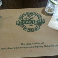 Photo taken at Steaktown by the Lake by Mico L. on 4/9/2013