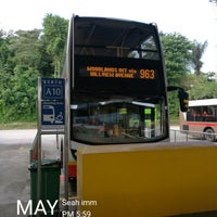 Photo taken at SMRT Buses: Bus 963 by サッカロマイセス ・. on 5/4/2017