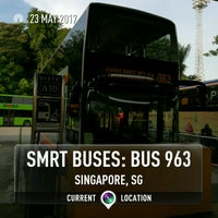 Photo taken at SMRT Buses: Bus 963 by サッカロマイセス ・. on 5/23/2017