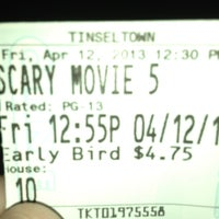 Photo taken at Tinseltown Theaters by Katie P. on 4/12/2013