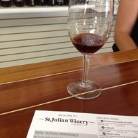Photo taken at St. Julian Winery Tasting Room by Sarah S. on 8/17/2013