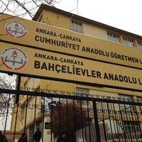 Photo taken at Bahçelievler Anadolu Lisesi by İlker T. on 12/21/2013