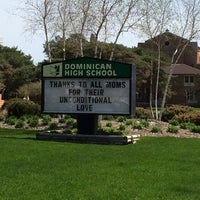 Photo taken at Dominican High School by Jenn S. on 5/11/2014