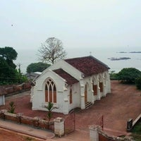 Photo taken at Mahe Church by Anu J. on 1/9/2013