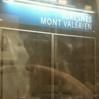 Photo taken at Gare SNCF de Suresnes — Mont Valérien by GARY on 1/8/2017