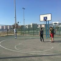 Photo taken at Bostanlı Basketbol Sahası by Güney B. on 3/21/2017
