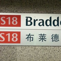 Photo taken at Braddell MRT Station (NS18) by Kiong Soon U. on 4/20/2013