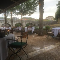 Photo taken at Le Moulin De L Abbaye Hotel Brantome by Faris A. on 7/26/2015