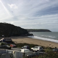 Photo taken at Tresaith Beach by Best of Wales on 10/17/2017
