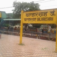 Photo taken at Balharshah Railway Station by Mahesh A. on 9/3/2013