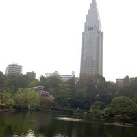 Photo taken at Shinjuku Gyoen by Masahiro K. on 4/1/2013