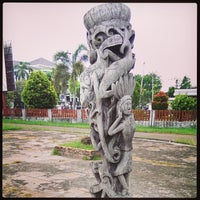Photo taken at Rumah Adat Betang by Michel Alexandre S. on 3/23/2014