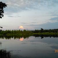 Photo taken at Пруд в холмах by Kostya K. on 6/29/2013