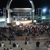 Photo taken at Anfiteatro da Ponta Negra by Jorge C. on 12/8/2013