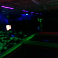 Photo taken at Rebounderz Indoor Trampoline Park by Steve B. on 1/19/2014