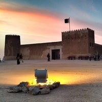 Photo taken at Al-Zubara Castle by Amna A. on 1/31/2014