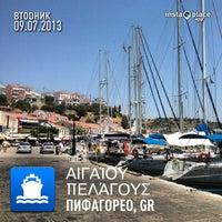 Photo taken at Port of Pythagoreio Harbor by Svetlana L. on 7/9/2013